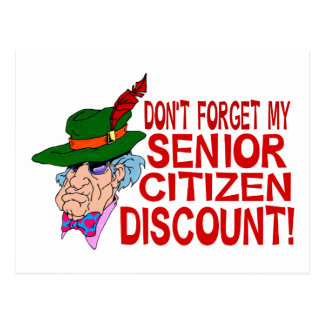 Senior Citizen Discount Postcard