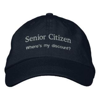 Senior Citizen Embroidered Baseball Cap