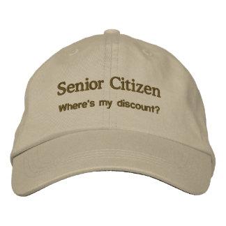 Senior Citizen Embroidered Cap