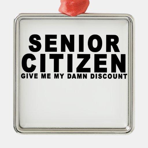 Senior Citizen.png Christmas Tree Ornaments