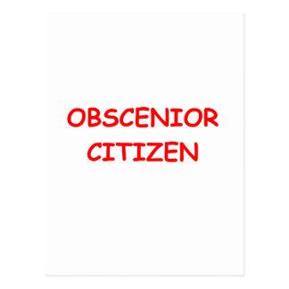 SENIOR citizen Postcard