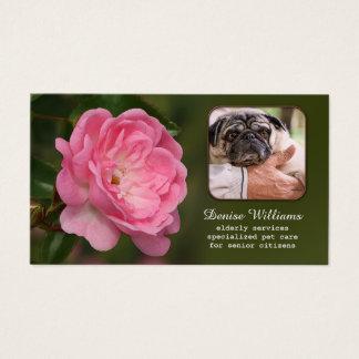 Senior Citizen Services and Pet Care Business Card