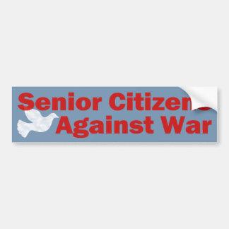 Senior Citizens Against War Car Bumper Sticker