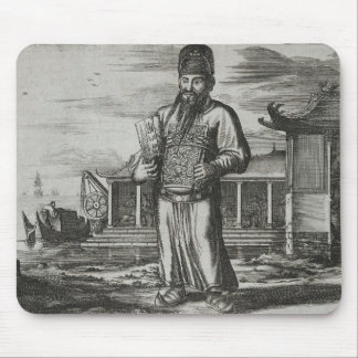 Senior Civil Servant Collecting Taxes, illustratio Mouse Mat