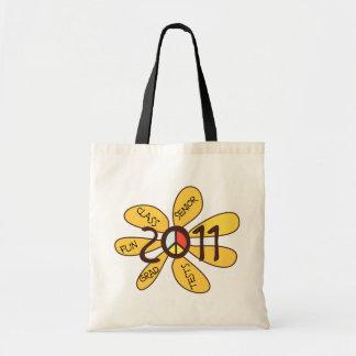 Senior Class 2011 Peace Flower Tote Bag