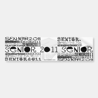 Senior Class of 2011 Car Bumper Sticker