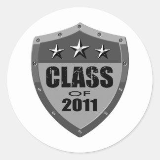 Senior, Class of 2011 Classic Round Sticker