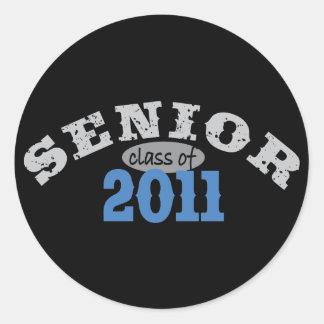 Senior Class of 2011 Classic Round Sticker