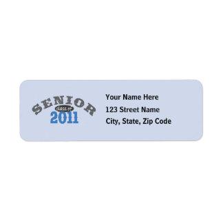 Senior Class of 2011 Return Address Label