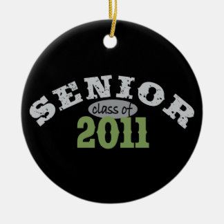 Senior Class of 2011 Round Ceramic Decoration