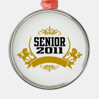 Senior Class of 2011 Silver-Colored Round Decoration