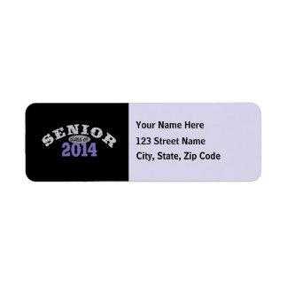 Senior Class of 2014 Return Address Label