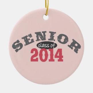 Senior Class of 2014 Round Ceramic Decoration