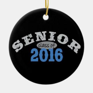 Senior Class of 2016 Blue Round Ceramic Decoration