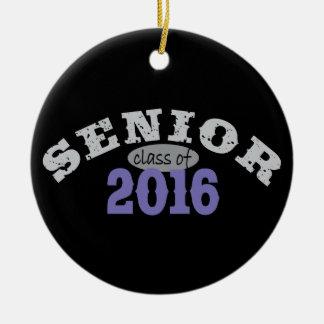 Senior Class of 2016 Purple Round Ceramic Decoration