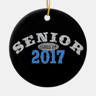 Senior Class of 2017 Blue Round Ceramic Decoration