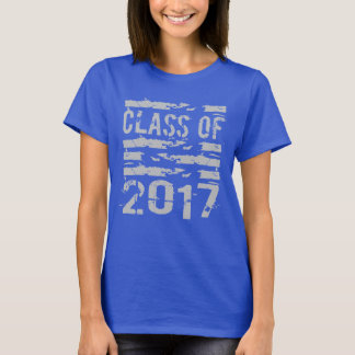 Senior Class of 2017 Cool Typography T-Shirt