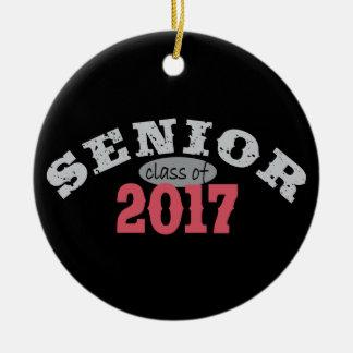 Senior Class of 2017 Red Round Ceramic Decoration