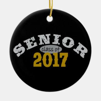 Senior Class of 2017 Yellow Gold Christmas Ornament
