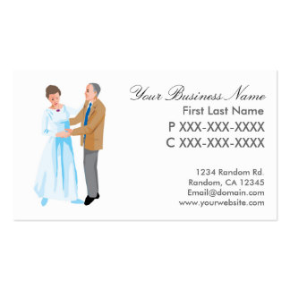 Senior dance couple business cards
