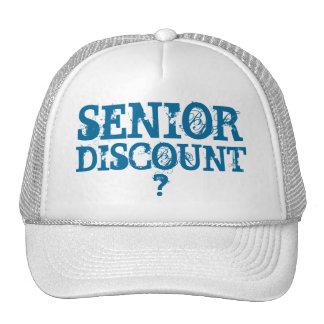SENIOR DISCOUNT ? - CAP SAVES YOU MONEY TRUCKER HAT