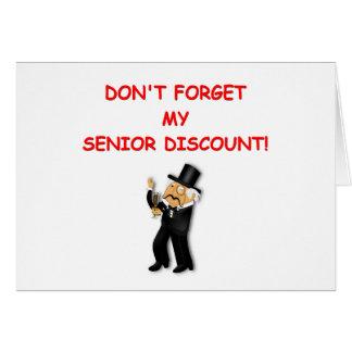 senior discount greeting card
