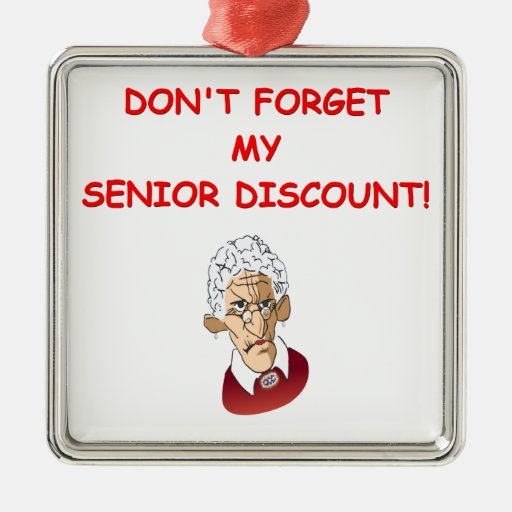 senior discount christmas tree ornament