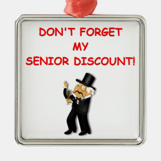 senior discount ornaments