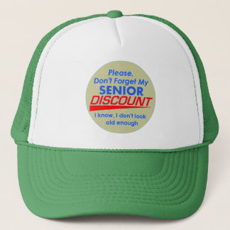 Senior Discount Hat