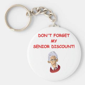 senior discount key chain