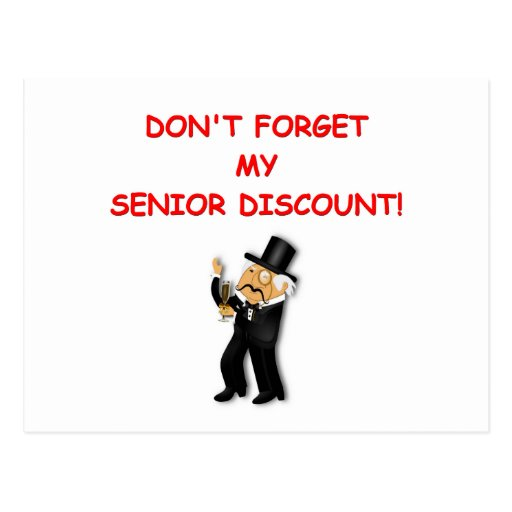 senior discount post cards