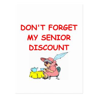 senior discount postcard