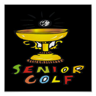 Senior Golf Trophy Print