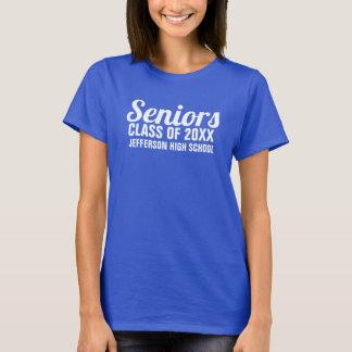 Senior Graduation Class of 2018 School Name Custom T-Shirt