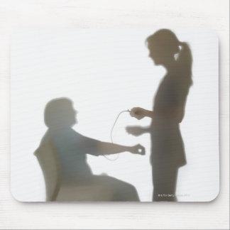 Senior health check / blood pressure reading mouse pad