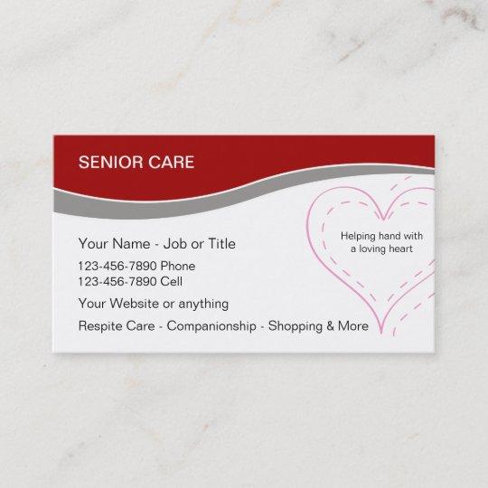 Senior home care business cards zazzle senior home care business cards reheart Image collections