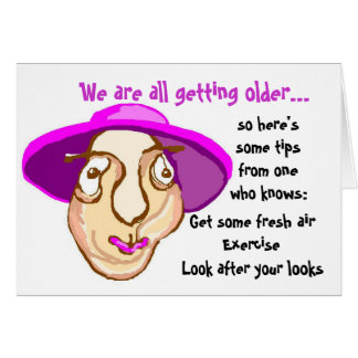 Senior ladies birthday card