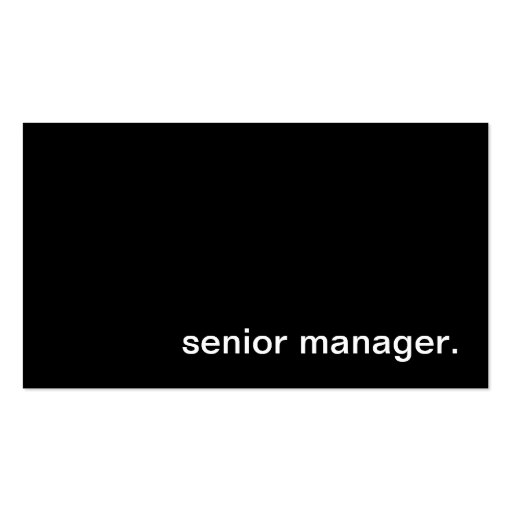 Senior Manager Business Card