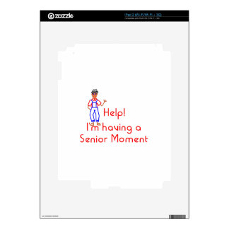 Senior Moment iPad 2 Decal