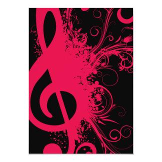 Senior Music Recital Card