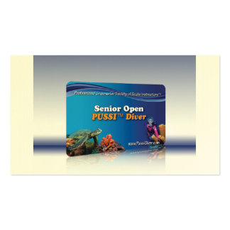 """""""Senior Open PUSSI Diver"""" Certification Card Pack Of Standard Business Cards"""