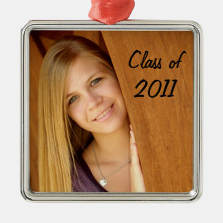 Senior photo ornament