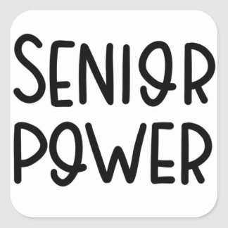 Senior Power sticker