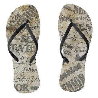 Senior Print Flip Flops