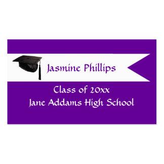 Senior Purple Name Card Business Card
