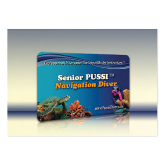 """""""Senior PUSSI Navigation Diver"""" Certification Card Pack Of Chubby Business Cards"""