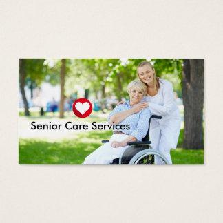 Senior Services Theme Business Card