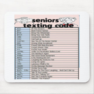 Senior Texting Code Mouse Mat