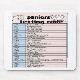 Senior Texting Code Mouse Pad