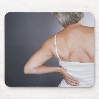 Senior woman with backache 2 mouse pad